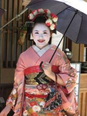 Geisha apprentice, Gion, Kyoto