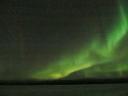 Northern lights (Aurora Borealis) during overnight dogsledding expedition from IceHotel, Jukkasjärvi (Kiruna) Sweden