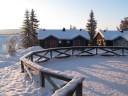 Beautiful view from Ice Hotel, Jukkasjärvi (Kiruna) Sweden